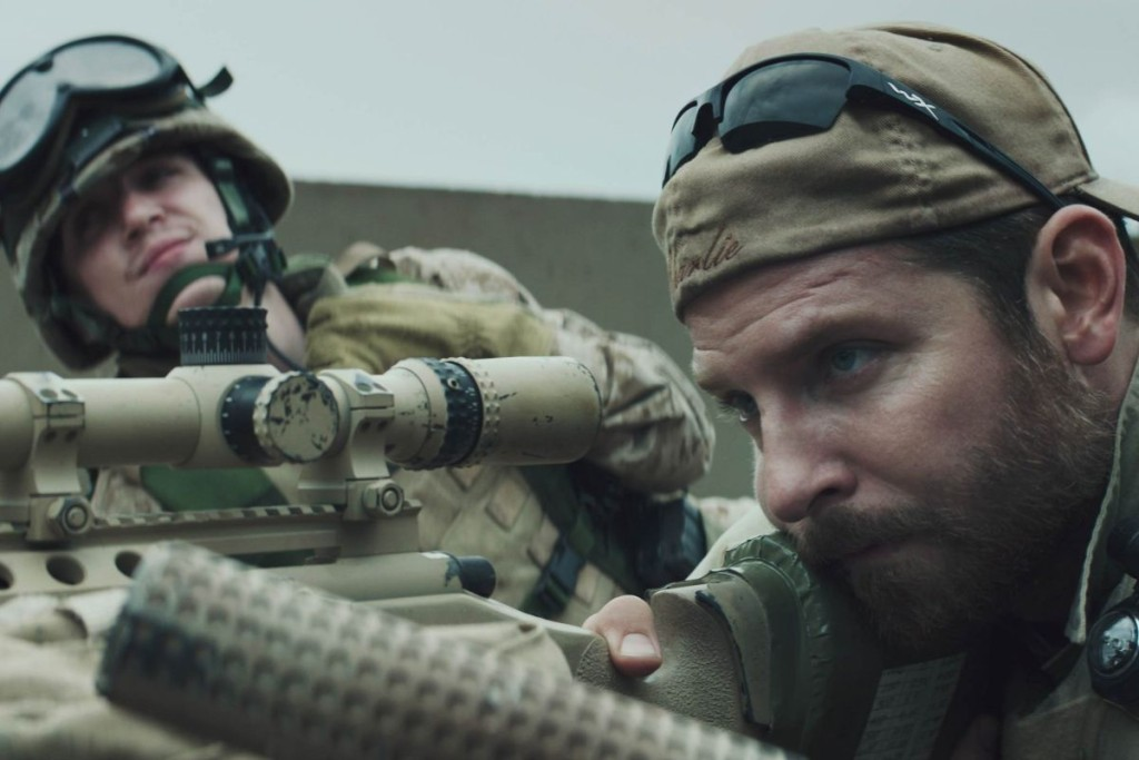 Bradley Cooper as Chris Kyle in American Sniper.