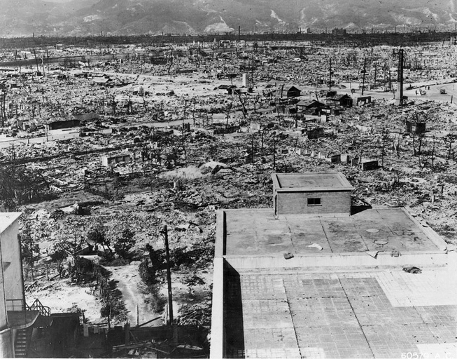 Hiroshima after the nuclear explosion.