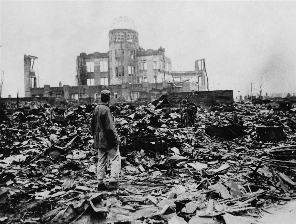 Hiroshima as seen in September 1945. Stanley Troutman/AP
